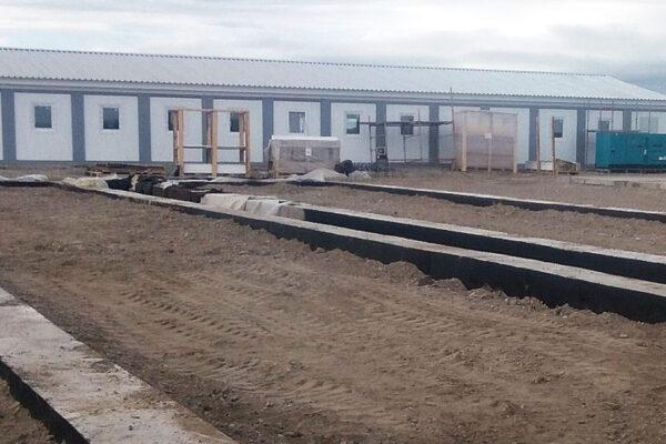 Устройство фундамента здания общежития на строительной площадке №2