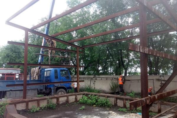 Демонтаж здания зольника