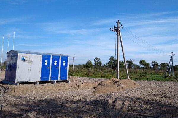 Монтаж временного электроснабжения и подстанции 10кВ. Левый берег